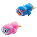 Swimming Penguin Blue/Pink