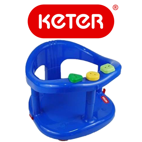 Keter Baby Bath Tub Ring Seat Dark Blue Color