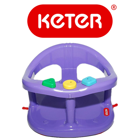 Keter Baby Bath Tub Ring Seat Purple Color
