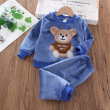 Flannel Pajamas Newborn Clothes Baby Boy Clothes Set For Girls Clothing Toddler Plush Suit Casual Kids