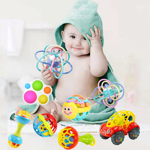 Educational Infant Toys Ball Baby Toys Rattles Bed Bell Teethers For Teeth Newborn Candy Develop Toy For Babies