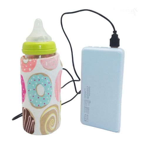 USB Milk Water Warmer Travel Stroller Insulated Bag Baby Nursing Bottle Heater