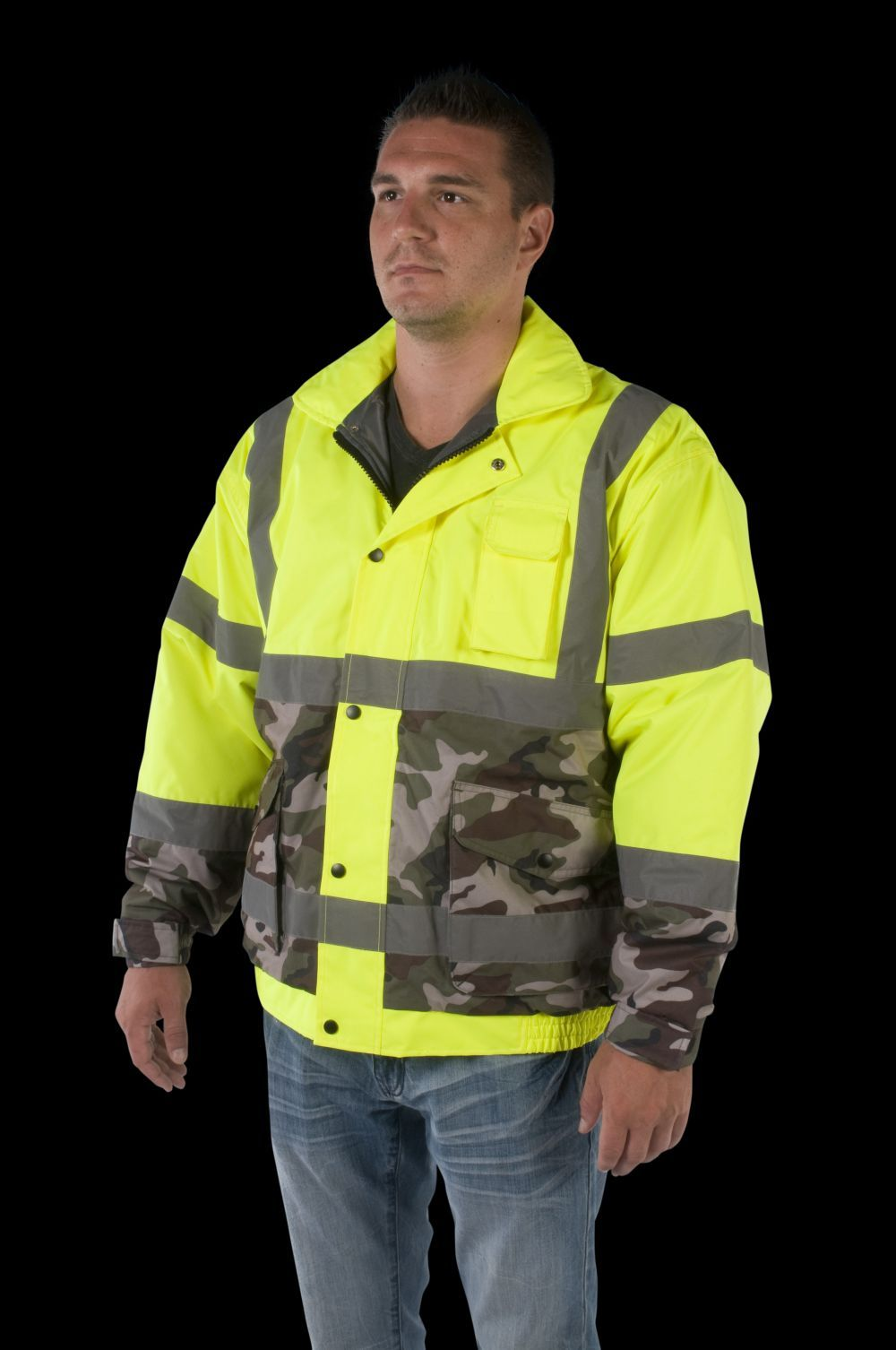 UHV561 High Visibility Bomber with Camo Bottom - SPECIAL EDITION - Utility Pro Wear