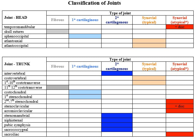 Classification of Joints Part I