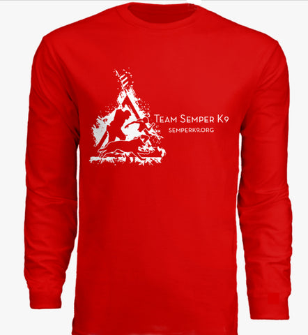 Team Semper K9 Race Day Long Sleeve Shirt