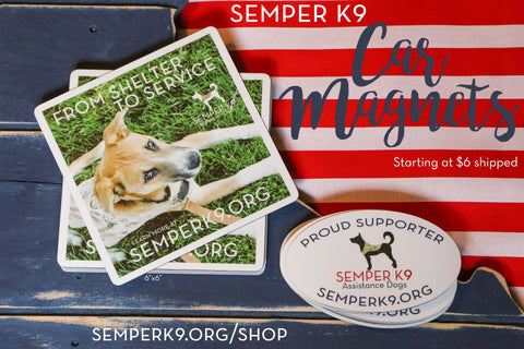 Semper K9 'From Shelter to Service' Magnet
