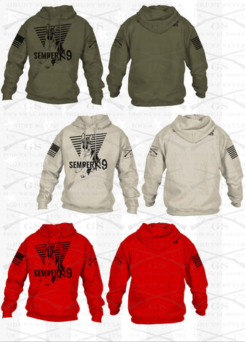 PRE ORDER Grunt Style Limited Edition Semper K9 Hoodie
