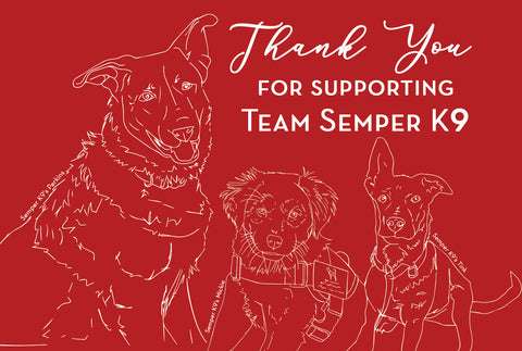 Semper K9 Thank You Cards