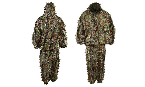 RAFFLE: LYGLO Mens 3D Lightweight Hooded Camouflage Ghillie Hunting Suits - One Size