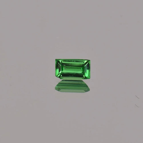 0.33ct Emerald Cut Green Tsavorite