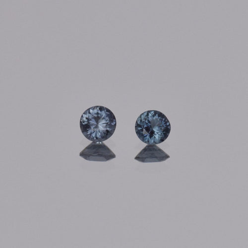 0.55ctw Round Blue Spinel Pair 4mm