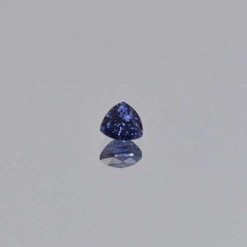 0.59ct Trillion Purple Cobalt Spinel 4.97x4.5x3.5mm
