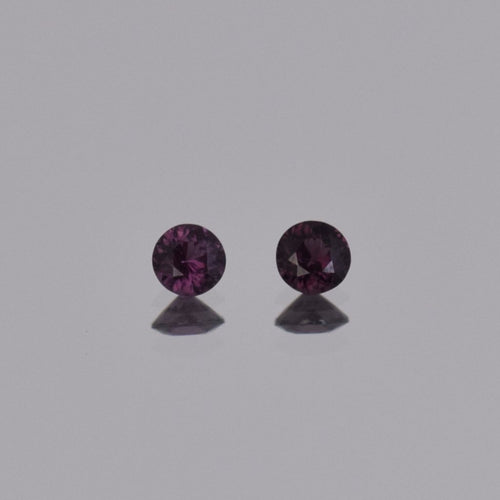0.59ctw Round Purple Spinel Pair 4mm