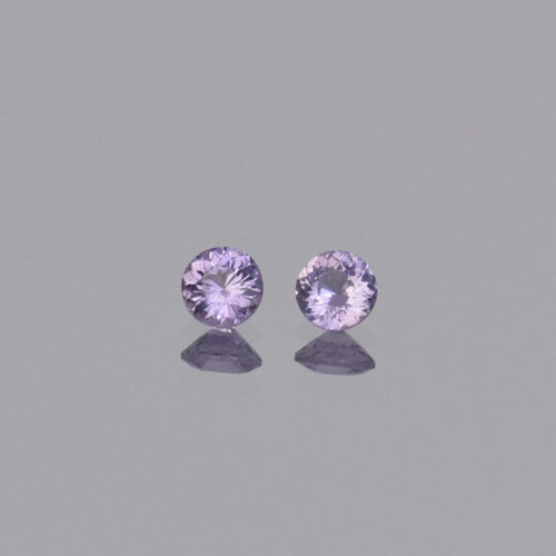 0.60ctw Round Purple Spinel Pair 4mm