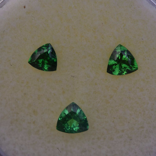 0.64ctw Trillion Green Tsavorite