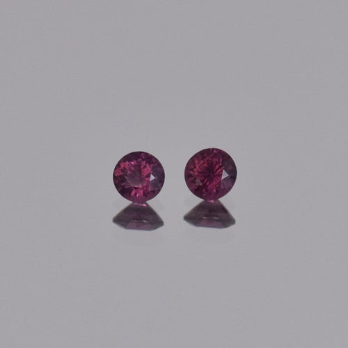0.65ctw Round Purple Spinel Pair 4mm