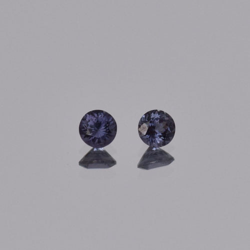 0.68ctw Round Blue Spinel Pair 4mm