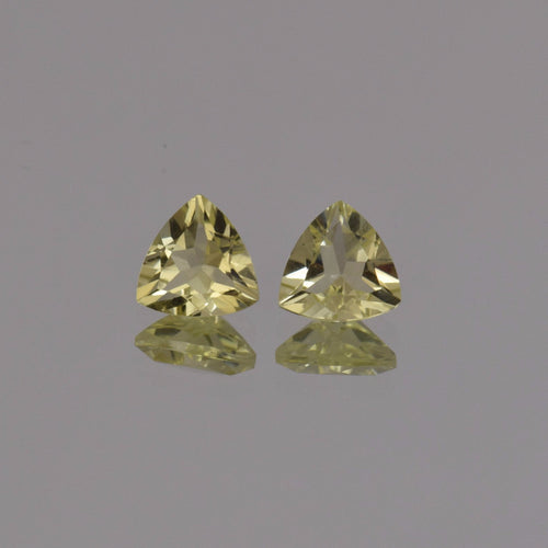 1.22ctw Trillion Lemon Quartz Pair