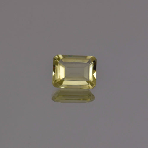 1.35ct Emerald Cut Lemon Quartz 8x6mm