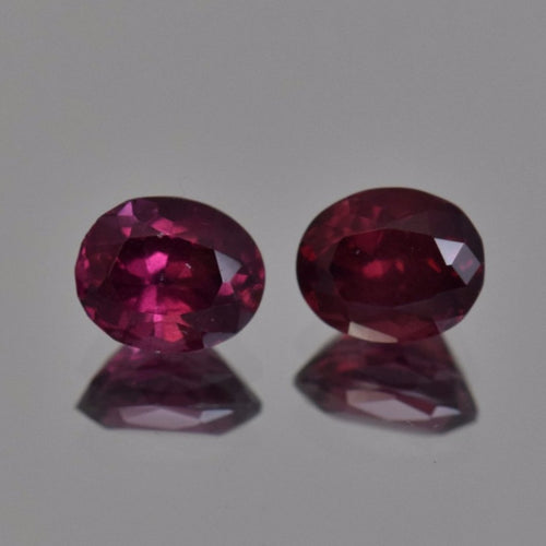 2.2ctw Oval Red Rhodolite Garnet Pair 6.4x5mm