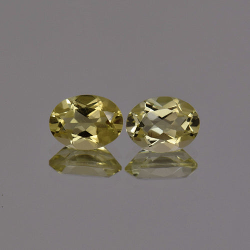 2.28ctw Oval Lemon Quartz Pair