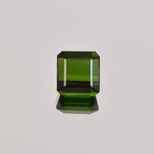 2.31ct Square Step Cut Green Tourmaline