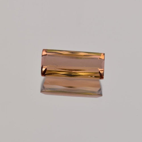2.85ct Emerald Cut Peach Tourmaline