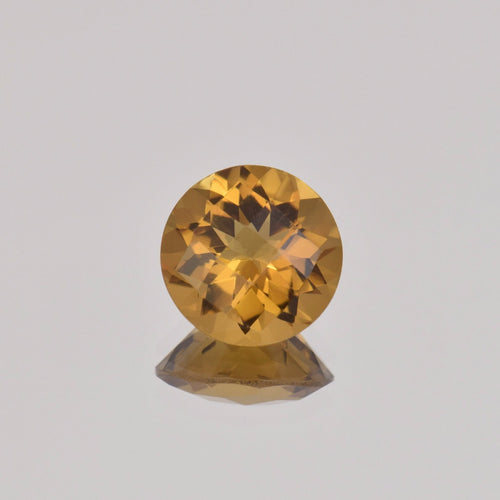 2.90ct Round Whiskey Quartz 10mm