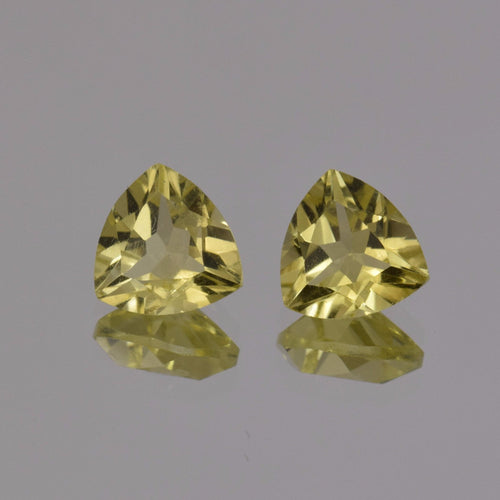 3.15ctw Tri Lemon Quartz Pair
