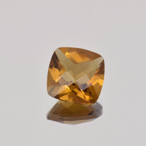 3.78ct Square Cushion Whiskey Quartz 10mm