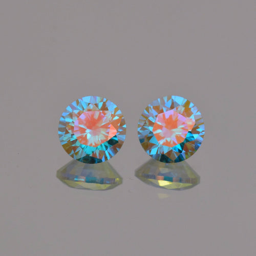 3.96ctw Blue Enchantment Topaz Pair 6.5mm