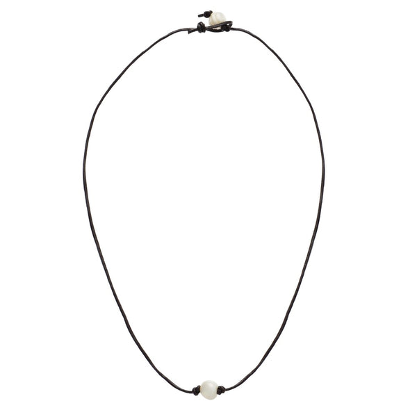Charcoal Pearl Necklace