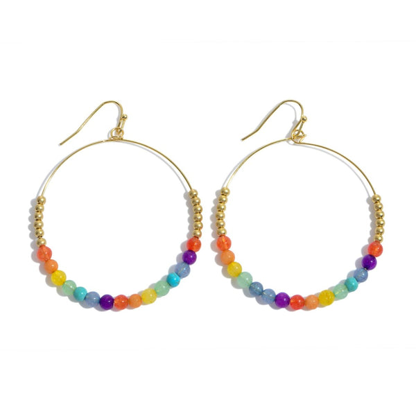 Happy Beaded Earrings