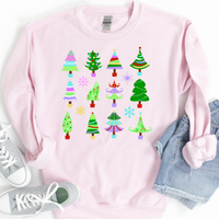 Christmas Tree Collage Sweatshirt