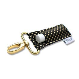 Black with Gold Dot Lippy Clip
