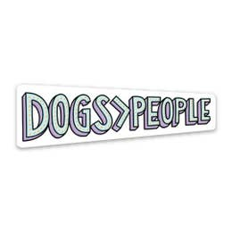 Dogs > People Sticker