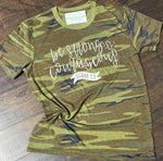 Be Strong & Courageous Camo Tee