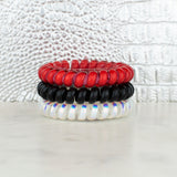 Hotline Hair Ties-Red/Black