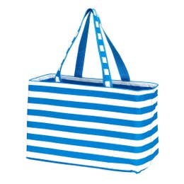 Blue/White Striped Tote