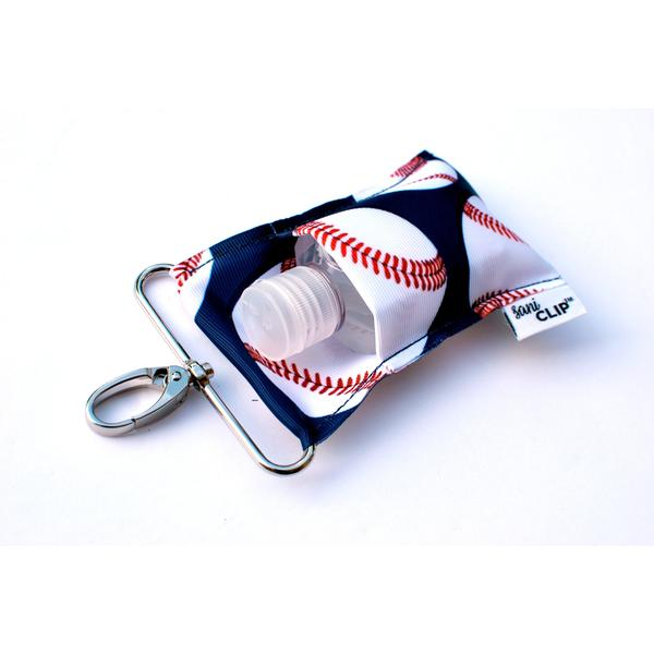 Baseball SaniClip Hand Sanitizer Holder