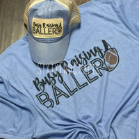 Busy Raising a Baller Tee- Football