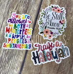 Faith Based Decal- 3 Pack