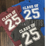 Class of 2025 Tee- Multiple Color Options
