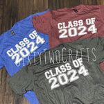 Class of 2024 Tee- Multiple Color Options