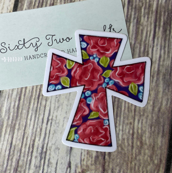 Floral Cross Decal