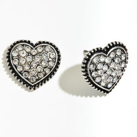 Black StudHeart Earrings