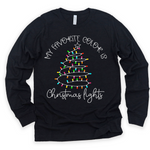 My Fav Color Is Christmas Lights (Apparel Options)