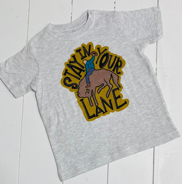 Stay In Your Lane Tee- Toddler/Youth