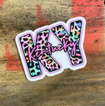 KY Leopard Waterproof Decal/Sticker