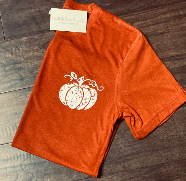 Distressed Pumpkin Pocket Tee